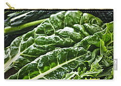 Dark Green Leafy Vegetables Carry-all Pouch by Elena Elisseeva
