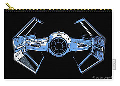 Darth Vaders Tie Figher Advanced X1 Tee Carry-all Pouch by Edward Fielding