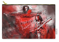 David Lee Roth And Eddie Van Halen Jump Carry-all Pouch by Miki De Goodaboom