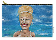 Dee With Her Bloody Mary Carry-all Pouch by Leandria Goodman