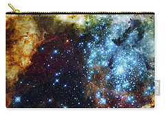 Deep Space Fire And Ice 2 Carry-all Pouch by Jennifer Rondinelli Reilly - Fine Art Photography