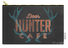 Deer Hunter Cafe Carry-all Pouch by Edward Fielding