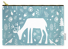 Deer In The Woods Carry-all Pouch by Nic Squirrell
