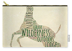 Deer Leaping Carry-all Pouch by Brandi Fitzgerald