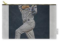Derek Jeter New York Yankees Art 2 Carry-all Pouch by Joe Hamilton