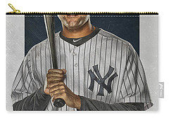 Derek Jeter New York Yankees Art Carry-all Pouch by Joe Hamilton