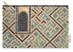 Detail Of Window And Geometric Patterns On Khoja Ahmed Yasawi Ma Carry-all Pouch by Reimar Gaertner