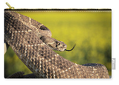 Diamondback And Canola Field Carry-all Pouch by Chris Harris