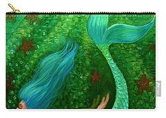 Diving Mermaid Fantasy Art Carry-all Pouch by Sue Halstenberg