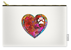 Dog Art - Puppy Love 2 - Sharon Cummings Carry-all Pouch by Sharon Cummings