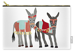 Donkeys Carry-all Pouch by Isoebl Barber