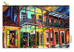 Down On Bourbon Street Carry-all Pouch by Diane Millsap