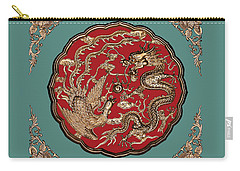 Dragon And Phoenix Carry-all Pouch by Kristin Elmquist