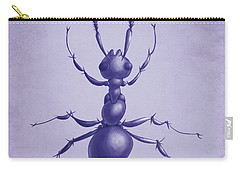 Drawn Purple Ant Carry-all Pouch by Boriana Giormova