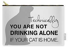 Drinking With Cats Carry-all Pouch by Nancy Ingersoll
