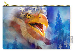 Eagle's Cry Carry-all Pouch by Carol Cavalaris