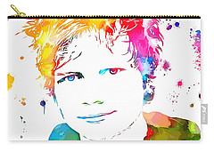 Ed Sheeran Paint Splatter Carry-all Pouch by Dan Sproul