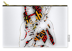 Eddie Van Halen Everybody Want's Some Lyrics Carry-all Pouch by Marvin Blaine