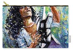 Eddie Van Halen Carry-all Pouch by Miki De Goodaboom