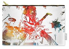 Eddie Van Halen Paint Splatter Carry-all Pouch by Dan Sproul