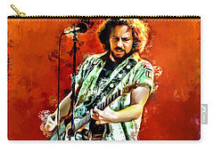 Eddie Vedder Painting Carry-all Pouch by Scott Wallace