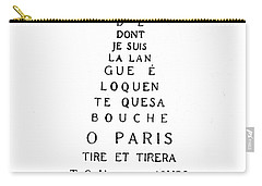 Eiffel Tower Carry-all Pouch by Guillaume Apollinaire