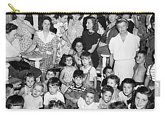 Eleanor Roosevelt And Children Carry-all Pouch by Underwood Archives