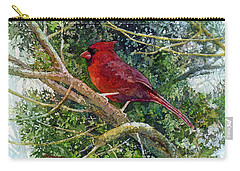 Elegance In Red Carry-all Pouch by Hailey E Herrera