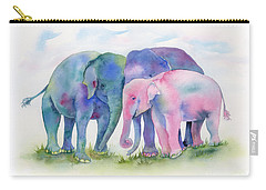 Elephant Hug Carry-all Pouch by Amy Kirkpatrick