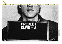 Elvis Presley Mug Shot Vertical 1 Carry-all Pouch by Tony Rubino