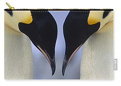 Emperor Penguin Family Carry-all Pouch by Tui De Roy