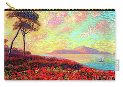 Enchanted By Poppies Carry-all Pouch by Jane Small