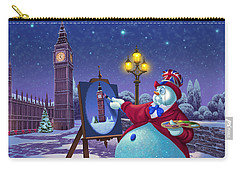 English Snowman Carry-all Pouch by Michael Humphries