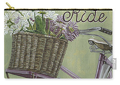 Enjoy The Ride Carry-all Pouch by Debbie DeWitt