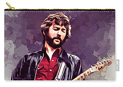 Eric Clapton Painting Carry-all Pouch by Scott Wallace