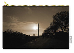 Evening Washington Monument Silhouette Carry-all Pouch by Betsy Knapp