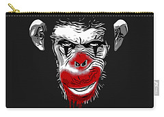 Evil Monkey Clown Carry-all Pouch by Nicklas Gustafsson