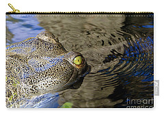 Eye Of The Crocodile Carry-all Pouch by David Lee Thompson
