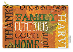 Fall Typography 1 Carry-all Pouch by Debbie DeWitt