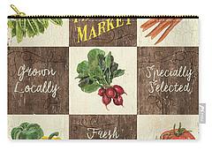 Farmer's Market Patch Carry-all Pouch by Debbie DeWitt