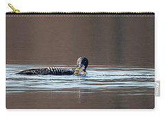 Feeding Common Loon Carry-all Pouch by Bill Wakeley