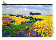 Fields Of Gold Carry-all Pouch by Jane Small