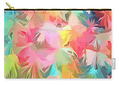 Fireworks Floral Abstract Square Carry-all Pouch by Edward Fielding