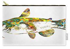 Fish Art Catfish Carry-all Pouch by Dan Sproul
