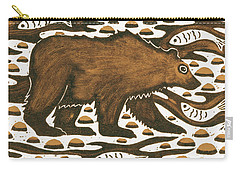 Fishing Bear Carry-all Pouch by Nat Morley