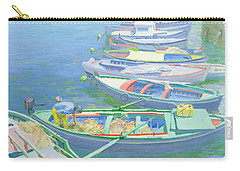 Fishing Boats Carry-all Pouch by William Ireland