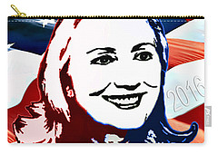 Flag Of Hillary Carry-all Pouch by Jost Houk