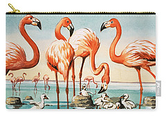 Flamingoes Carry-all Pouch by English School