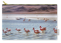 Flamingos Carry-all Pouch by Sandy Taylor