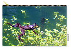 Floating Frog Carry-all Pouch by Nick Gustafson